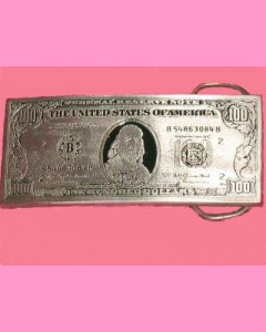 100 Dollar Bill Buckle