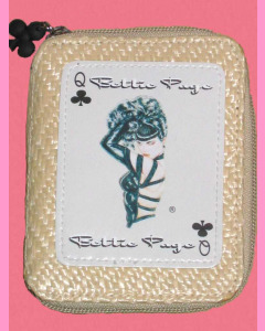 Bettie Page Clubs Straw Wallet