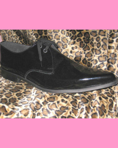 Black Patent Leather Winkle-Pickers