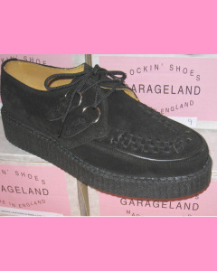 Black Suede Round Toe Creepers