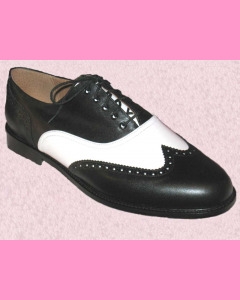 Black and White Wing Tip Brogues
