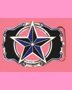 Black and blue nautical Star Buckle