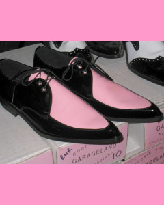 Black and pink patent leather Elvis Jam Shoes