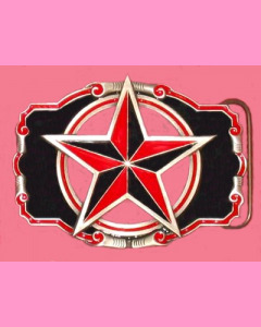 Black and red Nautical Star buckle