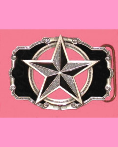 Black and silver glitter Nautical Star Buckle