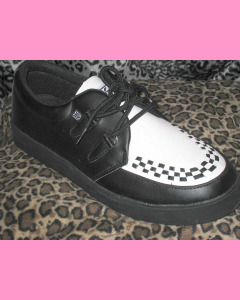 Black and white TUK Creeper Sneakers