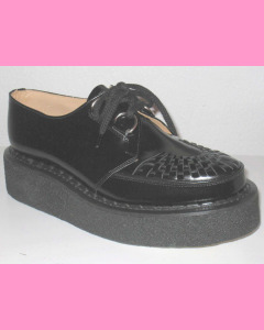 Black leather George Cox Brothel Creepers