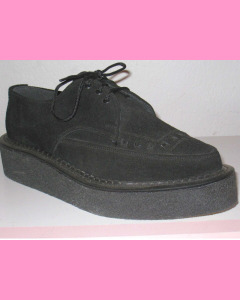 Black suede Pointed Brothel Creeper