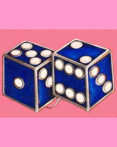 Blue Dices Buckle