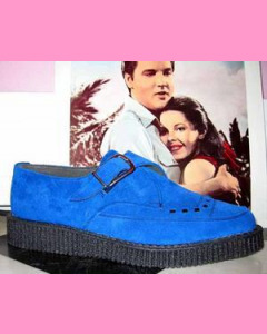 Blue Suede Pointed Creepers
