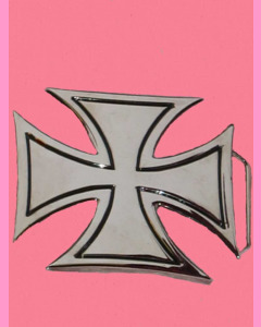 Chrome Iron Cross Buckle