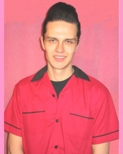 Classic 50's Bowling Shirt, Red\Black