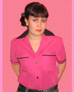 Classic Bowling Shirt, Pink\Black