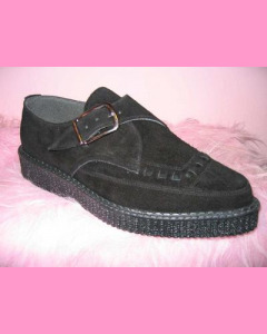 Black Suede Pointed Creepers