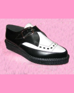 Black & White Leather Pointed Creepers