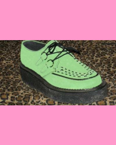 Green Suede Crepe Sole Brothel Creeper