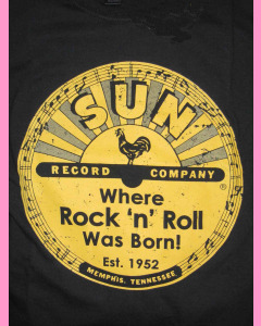 Large printed Sun Records logo on the front