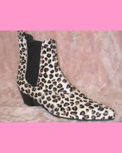 Leopard Chelsea Boots with Cuban Heel