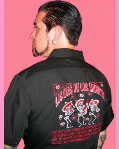 Los dias De Los Muertos Work Shirt.  Back embroidery