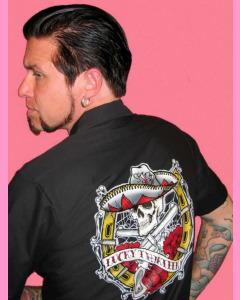 Lucky 13 Dead Guns Work Shirt.  Large print on the