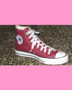 Maroon Converse All Star Hi