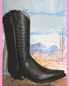 Mexico Boots, Black Leather