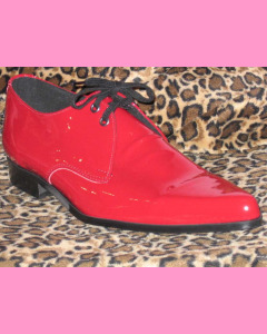 Red Patent Leather Winkle-Pickers