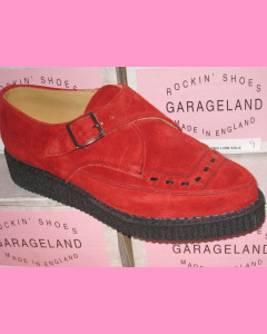 Red Suede Pointed Creepers
