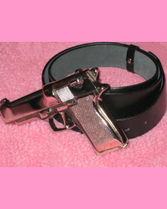 Silverstar Gun Buckle and our deluxe leather belt