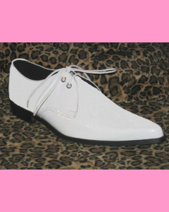 White Patent Leather Winkle-Pickers