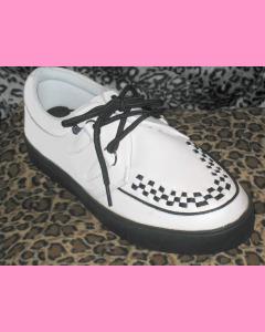 White TUK Creeper Sneakers