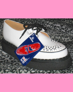 White leather George Cox Brothel Creepers