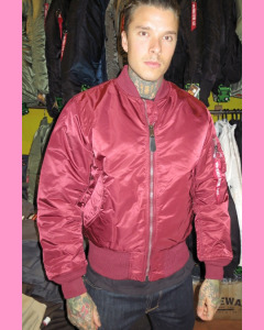 Maroon Alpha MA-1 Flight Jacket