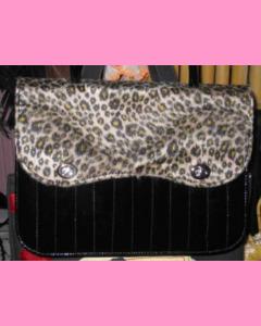 Double Leopard Vinyl Bag