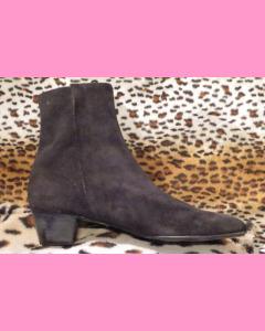 Black suede Beatle Boot
