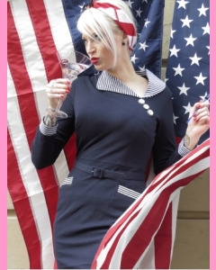 Bettie Page Admiral Dress