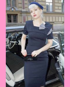 Bettie Page Big Bow Pencil Dress