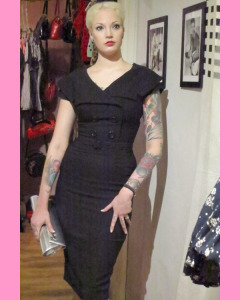 Bettie Page Secretary Pencil Dress