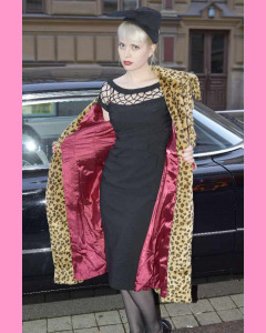 Bettie Page Wild Thing Long Leopard Coat