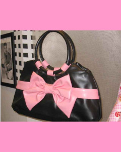 Black and pink Bow Bag