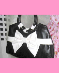 Black and white Bow Bag