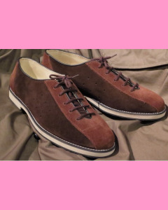 Brown and tan suede Bowling Shoes