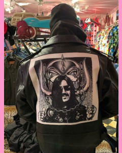 Black Brando jacket with back patches