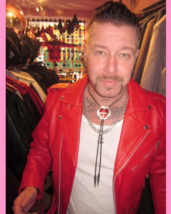 Red Brando Biker Leather Jacket