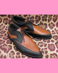 Black and tan leather Buddy Shoes