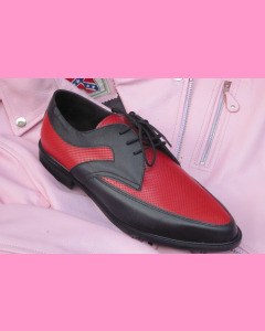 Black and red leather Buddy shoes