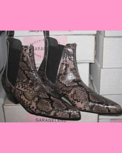 Brown Snake Chelsea Boots