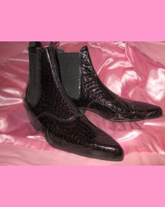 Crocodile Chelsea Boots with cuban heel