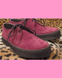 Burgundy Suede Chukka Shoes