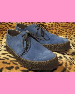 Electric Blue Chukka Shoes